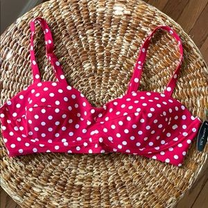 Red and White Polka dot Two Piece